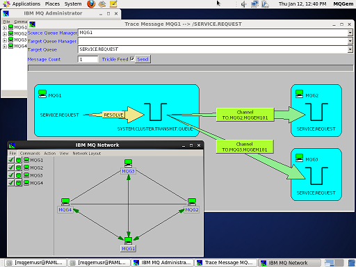 MO71 showing network and trace message on CentOS